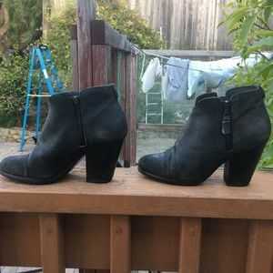 rag & bone Margot black crackle booties size 37